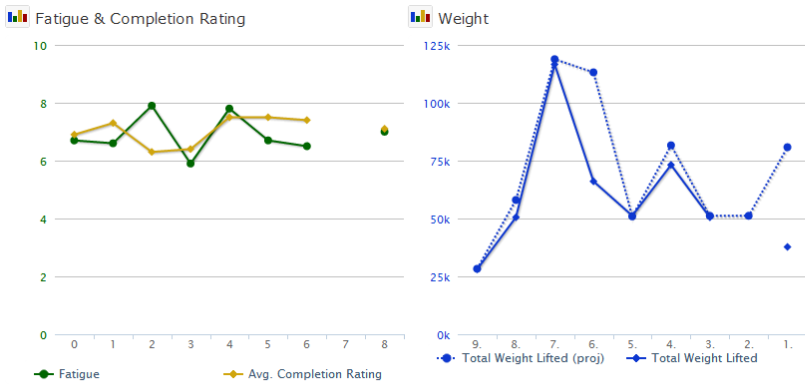 Comparing Plans to Actual Training with Graphs