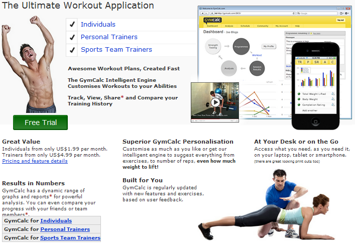 Free Trial Online Fitness Application